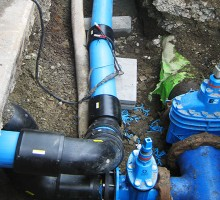 New watermain reticulation