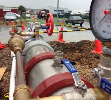 Backflow installation for fire supply